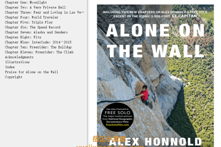 【配音频】Alone on the Wall by Alex Honnold(mobi,epub,pdf)