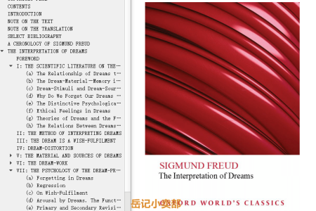 【电子书】The Interpretation of Dreams by Sigmund Freud(mobi,epub,pdf)