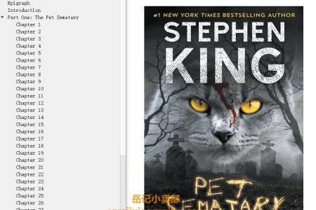 【配音频】Pet Sematary by Stephen King(mobi,epub,pdf)