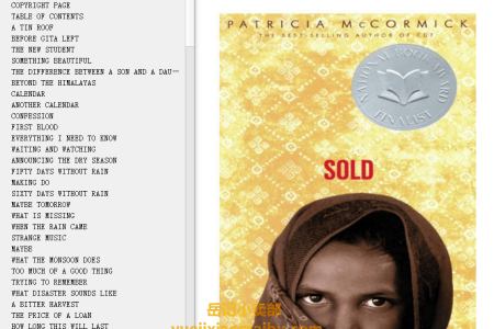 【配音频】Sold by Patricia McCormick(mobi,epub,pdf)