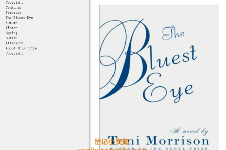 【配音频】The Bluest Eye by Toni Morrison(mobi,epub,pdf)