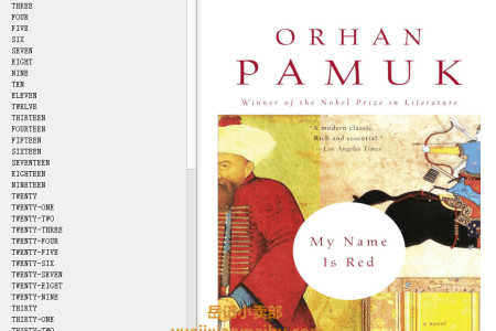 【配音频】My Name Is Red by Orhan Pamuk(mobi,epub,pdf)