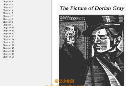 【配音频】The Picture of Dorian Gray by Oscar Wilde(mobi,epub,pdf)