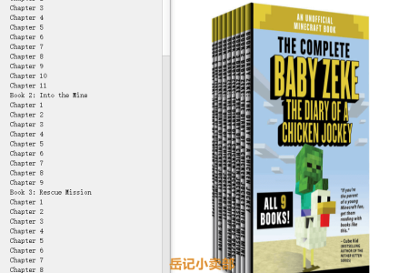 【配音频】Baby Zeke All 9 Books: The Diary of a Chicken Jockey by Dr Block(mobi,epub,pdf)