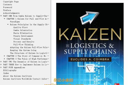 【电子书】Kaizen in Logistics and Supply Chains by Euclides Coimbra(mobi,epub,pdf)