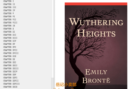【配音频】Wuthering Heights by Emily Brontë(mobi,epub,pdf)