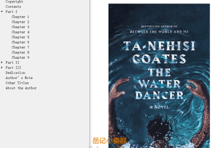 【配音频】The Water Dancer by Ta-Nehisi Coates(mobi,epub,pdf)