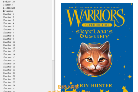 【电子书】SkyClan's Destiny (Warriors Super Edition #3) by Erin Hunter(mobi,epub,pdf)