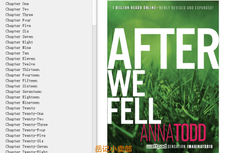 【配音频】After We Fell (After #3) by Anna Todd(mobi,epub,pdf)