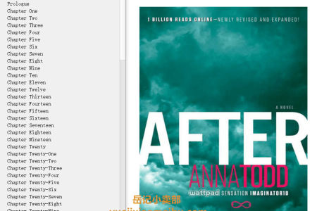 【配音频】After (After #1) by Anna Todd(mobi,epub,pdf)