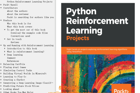 【电子书】Python Reinforcement Learning Projects: Eight hands-on projects exploring reinforcement learning algorithms using TensorFlow by Sean Saito(mobi,epub,pdf)