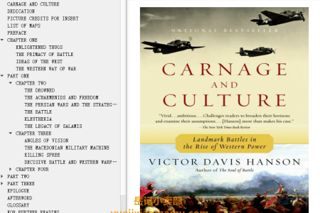 【配音频】Carnage and Culture: Landmark Battles in the Rise of Western Power by Victor Davis Hanson(mobi,epub,pdf)