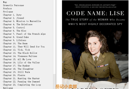 【配音频】Code Name: Lise. The True Story of the Woman Who Became WWII's Most Highly Decorated Spy by Larry Loftis(mobi,epub,pdf)