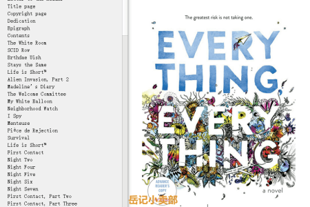 【配音频】Everything, Everything by Nicola Yoon(mobi,epub,pdf)