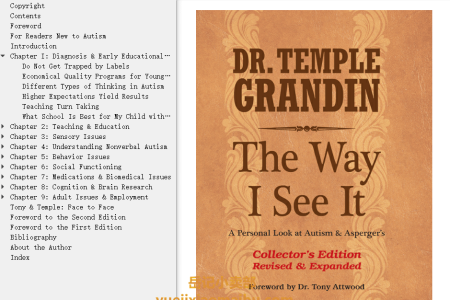 【电子书】The Way I See It 2014 Edition: A Personal Look at Autism & Asperger's by Temple Grandin(mobi,epub,pdf)
