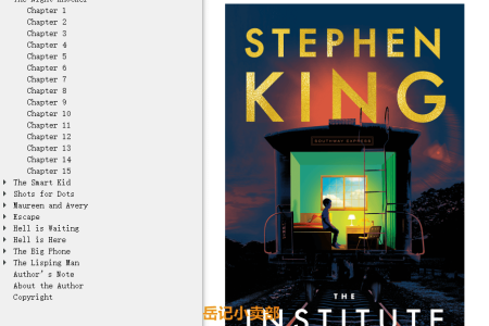【配音频】The Institute by Stephen King(mobi,epub,pdf)