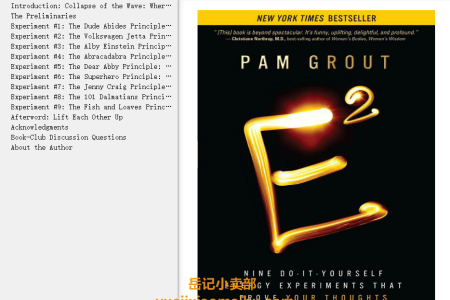 【配音频】E-Squared: Nine Do-It-Yourself Energy Experiments That Prove Your Thoughts Create Your Reality by Pam Grout(mobi,epub,pdf)