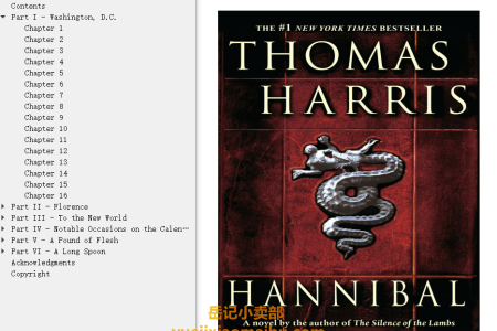 【配音频】Hannibal (Hannibal Lecter #3) by Thomas Harris(mobi,epub,pdf)