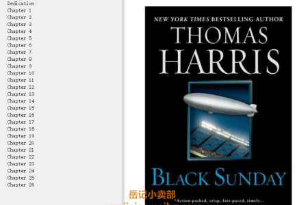 【配音频】Black Sunday by Thomas Harris(mobi,epub,pdf)
