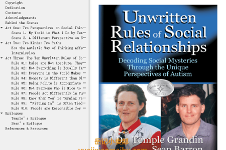 【配音频】Unwritten Rules of Social Relationships: Decoding Social Mysteries Through Autism's Unique Perspectives by Temple Grandin(mobi,epub,pdf)