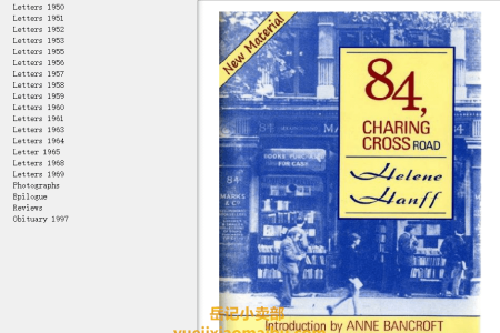 【配音频】84, Charing Cross Road by Helene Hanff(mobi,epub,pdf)