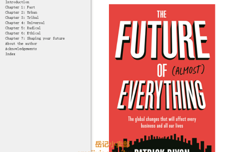 【电子书】The Future of Almost Everything: The global changes that will affect every business and all our lives by Patrick Dixon(mobi,epub,pdf)