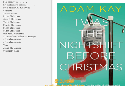 【配音频】Twas The Nightshift Before Christmas by Adam Kay(mobi,epub,pdf)