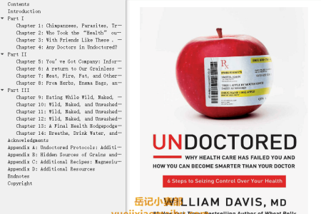 【配音频】Undoctored: Why Health Care Has Failed You and How You Can Become Smarter Than Your Doctor by William Davis(mobi,epub,pdf)