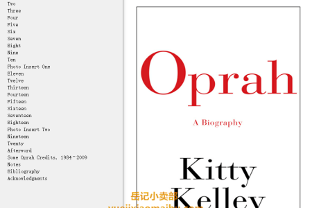 【配音频】Oprah by Kitty Kelley(mobi,epub,pdf)