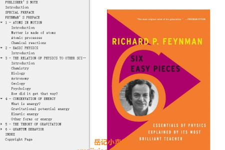 【配音频】Six Easy Pieces by Richard P. Feynman(mobi,epub,pdf)