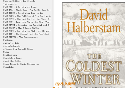 【配音频】The Coldest Winter: America and the Korean War by David Halberstam(mobi,epub,pdf)