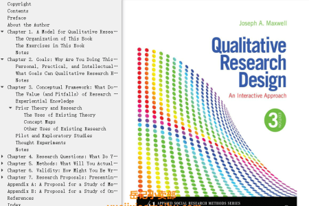 【电子书】Qualitative Research Design 3rd Edition: An Interactive Approach (Applied Social Research Methods)  by Joseph A. Maxwell(mobi,epub,pdf)