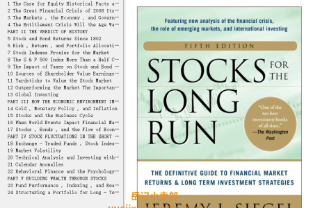 【配音频】Stocks for the Long Run 5th Edition: The Definitive Guide to Financial Market Returns & Long-Term Investment Strategies Hardcover  by Jeremy Siegel(mobi,epub,pdf)