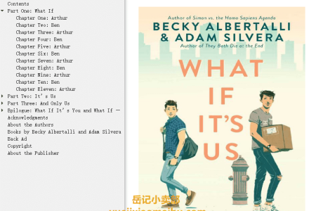 【配音频】What If It's Us by Becky Albertalli ,  Adam Silvera(mobi,epub,pdf)