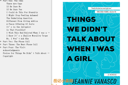 【配音频】Things We Didn't Talk About When I Was a Girl: A Memoir by Jeannie Vanasco(mobi,epub,pdf)
