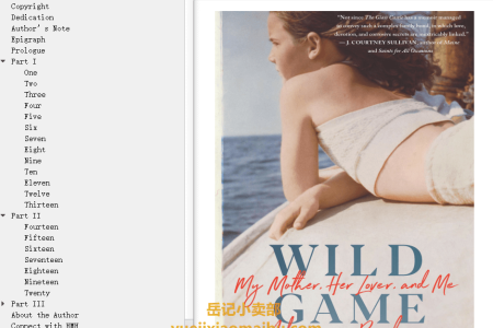 【配音频】Wild Game: My Mother, Her Lover, and Me by Adrienne Brodeur(mobi,epub,pdf)