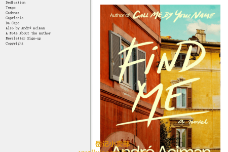 【配音频】Find Me (Call Me By Your Name #2) by André Aciman(mobi,epub,pdf)