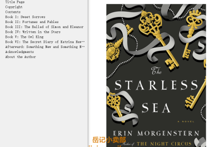 【配音频】The Starless Sea by Erin Morgenstern(mobi,epub,pdf)