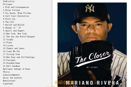 【配音频】The Closer: My Story by Mariano Rivera,  Wayne Coffey(mobi,epub,pdf)