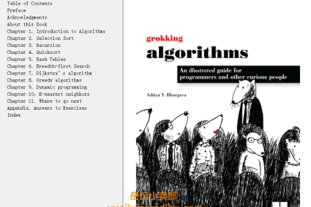 【配音频】Grokking Algorithms: An Illustrated Guide For Programmers and Other Curious People by Aditya Y. Bhargava(mobi,epub,pdf)