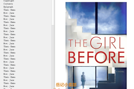 【配音频】The Girl Before by J.P. Delaney(mobi,epub,pdf)