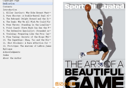 【电子书】The Art of a Beautiful Game: The Thinking Fan's Tour of the NBA by Chris Ballard(mobi,epub,pdf)