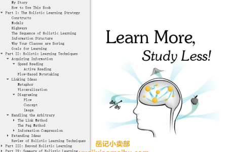 【电子书】Learn More, Study Less by Scott H. Young(mobi,epub,pdf)