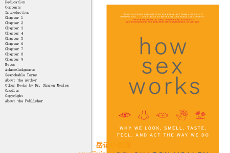 【配音频】How Sex Works: Why We Look, Smell, Taste, Feel, and Act the Way We Do by Sharon Moalem(mobi,epub,pdf)