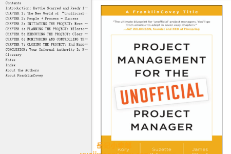 【配音频】Project Management for the Unofficial Project Manager by Kory Kogon(mobi,epub,pdf)