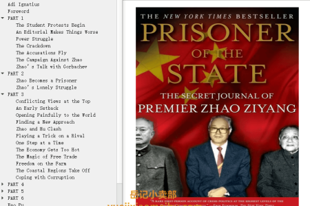 【配音频】Prisoner of the State: The Secret Journal of Premier Zhao Ziyang by Zhao Ziyang(mobi,epub,pdf)