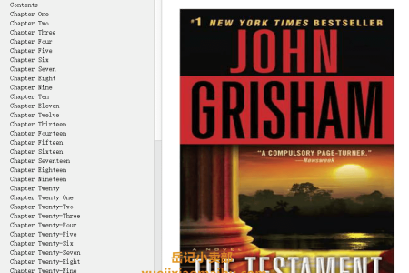 【配音频】The Testament by John Grisham(mobi,epub,pdf)