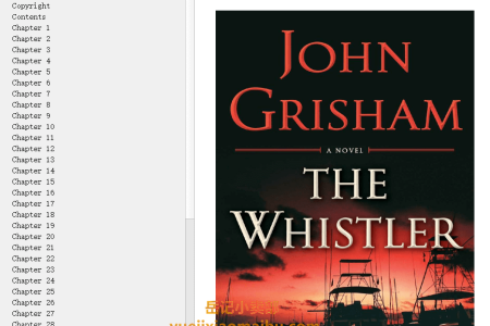 【配音频】The Whistler (The Whistler #1) by John Grisham(mobi,epub,pdf)