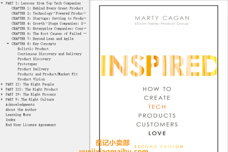 【配音频】Inspired 2nd Edition: How to Create Tech Products Customers Love by Marty Cagan(mobi,epub,pdf)
