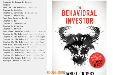 【配音频】The Behavioral Investor by Daniel Crosby(mobi,epub,pdf)